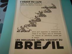 ANCIENNE PUBLICITE  CAFE DU BRESIL - Posters