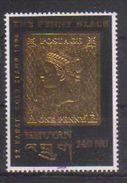 1966 - The Penny Black - Oro 22 Kt - Nuovo Con Retro Imperfetto (vedi Immagine) - Bhutan