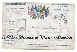 WWI 1916 - 87 EME REGIMENT D INFANTERIE - SP 118 - CORRESPONDANCE POUR Y BOULOGNE - CARTE POSTALE MILITAIRE CPA - Guerre 1914-18