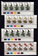 TRANSKEI, 1977, Mint Never Hinged Stamps In Control Blocks, MI 24-27 , Medicinal Plants, X203 - Transkei
