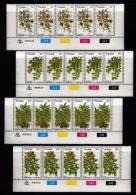 TRANSKEI, 1978, Mint Never Hinged Stamps In Control Blocks, MI 41-44 , Edible Wild Fruit, X208 - Transkei