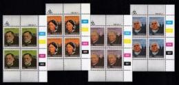 TRANSKEI, 1983, Mint Never Hinged Stamps In Control Blocks, MI 124-127, Heroes Of Medicines, X227 - Transkei