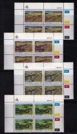 TRANSKEI, 1985, Mint Never Hinged Stamps In Control Blocks, MI 163-166, Save The Soil,  X232 - Transkei