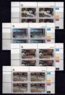 TRANSKEI, 1985, Mint Never Hinged Stamps In Control Blocks, MI 172-175, Match Factory,  X234 - Transkei
