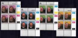 TRANSKEI, 1985, Mint Never Hinged Stamps In Control Blocks, MI 176-179, Heroes Of Medicines,  X235 - Transkei