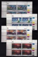 TRANSKEI, 1987, Mint Never Hinged Stamps In Control Blocks, MI 197-200,  Transkei Airways,  X240 - Transkei