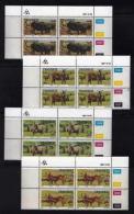 TRANSKEI, 1987, Mint Never Hinged Stamps In Control Blocks, MI 210-213,  Domestic Animals,  X243 - Transkei