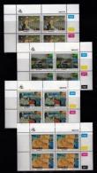 TRANSKEI, 1988, Mint Never Hinged Stamps In Control Blocks, MI 218-221,  Blanket Factory,  X245 - Transkei