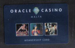 MALTA - A RARE ORACLE  CASINO CARD FROM MALTA - Malta