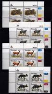 TRANSKEI, 1988, Mint Never Hinged Stamps In Control Blocks, MI 226-229,  Endangered Animals,  X247 - Transkei