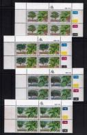 TRANSKEI, 1989, Mint Never Hinged Stamps In Control Blocks, MI  242-245,  Indigenous Trees,  X251 - Transkei