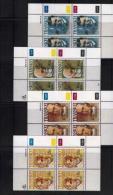 TRANSKEI, 1990, Mint Never Hinged Stamps In Control Blocks, MI  250-253,  Heroes Of Medicines,  X253 - Transkei