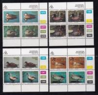 TRANSKEI, 1992, Mint Never Hinged Stamps In Control Blocks, MI  287-294,  Waterfowl,  X262 - Transkei