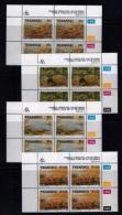 TRANSKEI, 1993, Mint Never Hinged Stamps In Control Blocks, MI  303-306,  Fossils,  X265 - Transkei