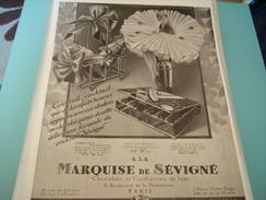 ANCIENNE PUBLICITE LE BON GOUT FRANCAIS A LA MARQUISE DE SEVIGNE - Affiches