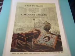 ANCIENNE PUBLICITE LE BON GOUT FRANCAIS A LA MARQUISE DE SEVIGNE 1952 - Posters