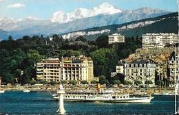 Genève - Le Mont-Blanc Et Le Bateau-Salon Helvetia - Carte Jaeger N° 577 - GE Geneva