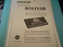 ANCIENNE PUBLICITE GUERIN BOUTRON PRESENTE CHOCOLAT BOLIVAR - Affiches