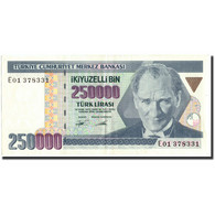 Turquie, 250,000 Lira, 1998, 1998, KM:211, SUP - Turchia