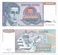 Yugoslavia 500.000 Dinara 1993. UNC   P-119 - Yougoslavie