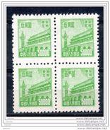 China Chine : (6180) RN1 Issue Régulière De Tian An Men (pour L´usage Dans Le Nord-est) 1ere Serie SG NE285**x 4 - Chine Du Nord-Est 1946-48