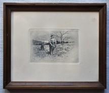 ANTIGUO GRABADO DE CAMPESINAS DE TOMAS CAMPUZANO (1857-1934)  OLD ENGRAVING - Gravados
