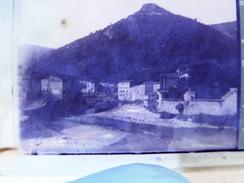 11 - Lodeve - Rocher De La Vierge - Negatif Stereoscopique Sur Plaque De Verre - 1921 - Plaques De Verre
