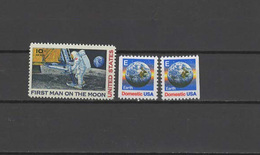 USA 1969/1988 Space 3 Stamps MNH - Raumfahrt