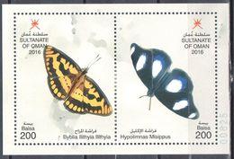 Oman 2016 - Butterflies - M/s - MNH (**) - Schmetterlinge