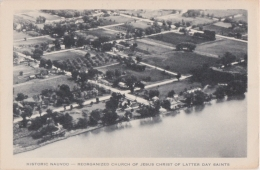 Cpa Historic NAUVOO - Reorganized Church Of Jesus Christ Of Latter Day Saints - A Seen From The Air - Etats-Unis