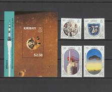 Kiribati 1989 Space Apollo 11 Moon Landing 20th Anniversary Set Of 4 + S/s MNH - Raumfahrt