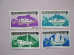 1986 Hong Kong Yvert 443/6 ** Bateaux Ships Scott 474/7 Michel 491/4 SG 521/4 - Hong Kong (...-1997)