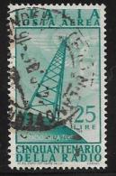 Italy, Scott # C119 Used Radio Tower, 1947 - 1946-.. Republiek