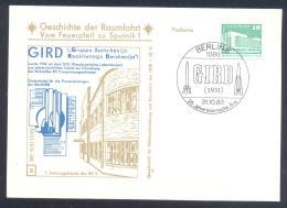 Germany DDR Card: Space Weltraum Espace: History Of Space Flights 30/50; GIRD, Rocket - FDC & Gedenkmarken