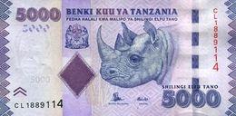 TANZANIA 5000 SHILLINGS ND (2015) P-43b UNC SIGN. UNKNOWN & NDULU [TZ142b] - Tanzanie
