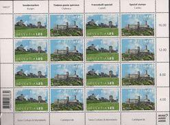 2017 Schweiz Mi. 2495-6**MNH Sheet Europa: Burgen Und Schlösser. - Blocks & Kleinbögen