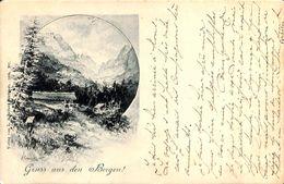 Gruss Aus Den Bergen (Litho, Verlag Von L. Schäller, Staud 1896, 1900) - Souvenir De...