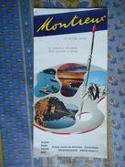 SUISSE DEPLIANT TOURISTIQUE Ancien MONTREUX LA RIVIERA SUISSE - Dépliants Touristiques