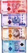 TANZANIA 1000 2000 5000 10000 SHILLINGS ND (2015) P.41b-44b UNC [TZ140b-143b] - Tanzanie