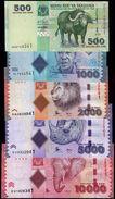 TANZANIA 500 1000 2000 5000 10000 SHILLINGS ND (2010/2015) P.40a-44b UNC FULL SET [TZ139a-143b] - Tanzania
