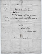 """1826 Printed Letter From The Notorious Swindler """"Joseph Ady, Houndsditch, London"""" To """"Mr Hume, Yorkshire"""".  Ref 0409 - Autographs"""