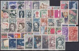 FRANCIA 1962 Nº 1325/1367 AÑO COMPLETO USADO - France