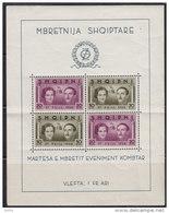 2873(1). Albania, 1938, King Zogu I, Block 2, MNH (**) - Albanie