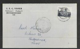 S.Africa,  Domestic  Cover, 12c,  BITTERFONTEIN15 I 83 C.d.s., PAARL  ( HUGUENO 1) 20 I 83 Arrival - Covers & Documents