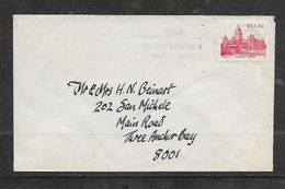 S.Africa,  Domestic  Cover, 16c,  PRETORIA..c.d.s., + HELP FLOOD DISASTER NATAL; POST OFFICE MUSEUM Cachet (rev) - Covers & Documents