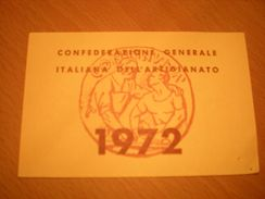 TESSERA CONFEDERAZIONE GENERALE ITALIANA DELL'ARTIGIANATO 1972 - Organizzazioni