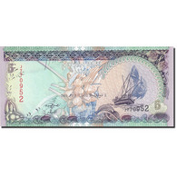 Maldives, 5 Rufiyaa, 1995-1998, 2011, KM:18d, NEUF - Maldives