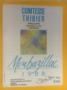 4740 -  Comtesse Thibier Monbazillac 1988 Yvon Mau - Monbazillac