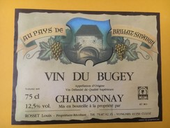 4742 -  Au Pays De Brillat-Savarin Vin Du Bugey Chardonnay - Etiquettes