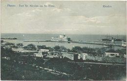Z3783 Rodos Rhodes Rodi Rhodos - Forte San Nicola Fort Nicolas Guerra Italo Turca 1912 - Franchigia Regia Nave San Marco - Grèce